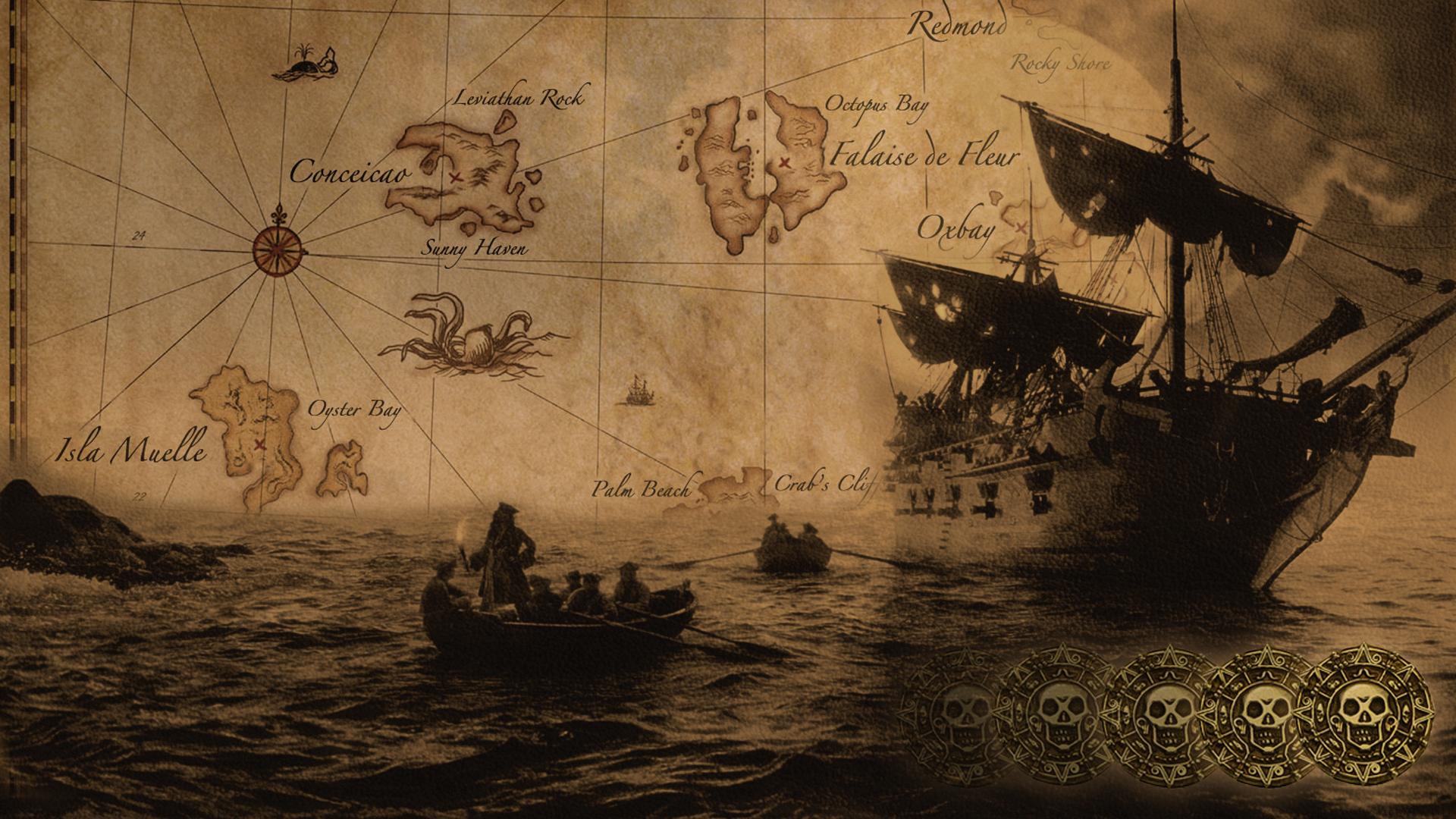 обои для рабочего стола пиратские темы № 618563  скачать